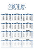 European calendar for 2015 in vector Royalty Free Stock Photos