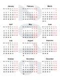 European calendar 2015. European calendar for the year 2015 Royalty Free Stock Photo