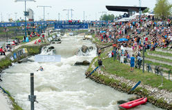 European Canoe Slalom Championships, Cunovo (SVK) Stock Photo