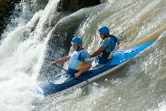European Canoe Slalom Championships, Cunovo (SVK) Royalty Free Stock Images