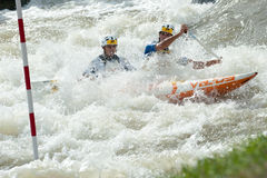 European Canoe Slalom Championships, Cunovo (SVK) Royalty Free Stock Photo