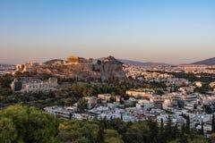 CITY OF ATHENS, ATTIKA GREECE. EUROPEAN CAPITALS, THE ACROPOLIS OF ATHENS, GREECE stock photo