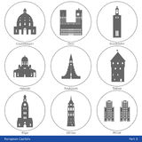 European Capitals - Icon Set (Part 3) Royalty Free Stock Photos