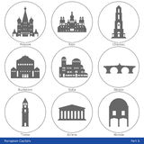 European Capitals - Icon Set (Part 5) Royalty Free Stock Photos