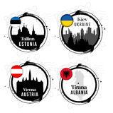 European capitals stamps Royalty Free Stock Photography