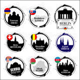 European capitals stamps Stock Photography
