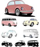 European car design of the past. German classic vehicles design with soft colors Royalty Free Stock Photo