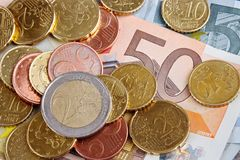 European cash Royalty Free Stock Photo