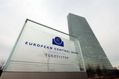 European Central Bank building Stock Image