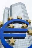 European Central Bank Building Frankfurt Royalty Free Stock Photography