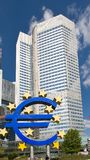 The European Central Bank in Frankfurt Royalty Free Stock Photos
