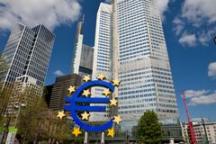 The European Central Bank in Frankfurt Stock Image