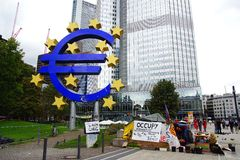 European Central Bank in Frankfurt am Main Royalty Free Stock Photos