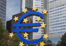 European Central Bank in Frankfurt Stock Image