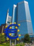 European Central Bank in Frankfurt royalty free stock image