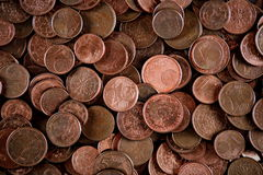 European cents background Stock Photography