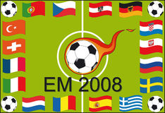 European Championship 2008. European soccer championship 2008 - Illustration Vector Stock Photos