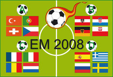 European Championship 2008. European soccer championship 2008 - Illustration Vector Royalty Free Stock Photography