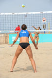 European Championship Beach Volleyball for Women Stock Images