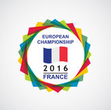 2016 European Championship. France. Abstract vector illustration Royalty Free Stock Photo