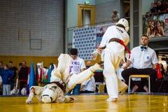 European championship Kyokushin World Union KWU for Children and Youth 2017 Stock Photos
