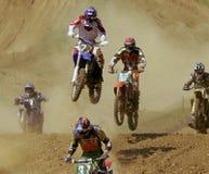 European Championship motocross in Yakhroma Stock Photos