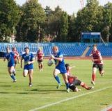 European Championship Ukraine - Norway, rugby. European Championship Euro Bowl Ukraine - Norway, rugby, held in Kharkov Ukraine, July 6, 2013 Stock Photography