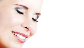 The European cheerful girl beautiful portrait. Stock Photography