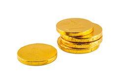 European chocolate money Stock Photos