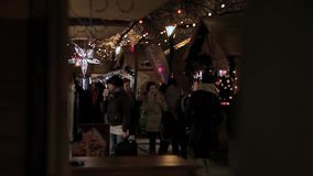 European Christmas, Budapest stock video footage