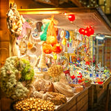 European Christmas market stall Stock Photos