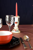 European christmas table royalty free stock image