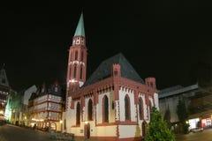 European church at night. Small European church at night Royalty Free Stock Photography