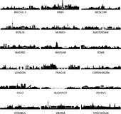 European cities. Detailed vector illustration of european cities and capitals