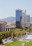 European cities, Barcelona. Buildings in Barcelona, sun day, July. Spain royalty free stock photos