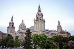 European cities, Barcelona. National Art Museum of Catalonia in Barcelona, may Stock Photography