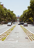 European cities, Barcelona. Street in Barcelona, sun day, July royalty free stock images