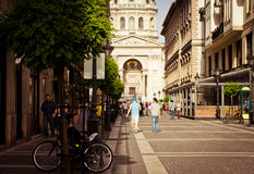European cities, Budapes. Street in Budapest, Hungary, may 2013 royalty free stock photography