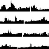 European cities in eight countries Royalty Free Stock Image