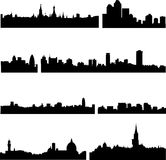 European cities in eight countries Royalty Free Stock Photos
