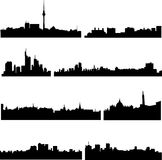 European cities in eight countries Stock Photography