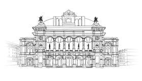 European cities landmark: Vienna State Opera House, Austria. Theater Wiener Staatsoper. Stock Photos