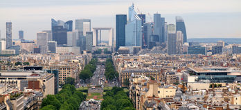 European cities life. Skyscrapers of Paris city Stock Images