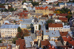 European city from the bird view Stock Image