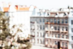 European city blurred background royalty free stock photo