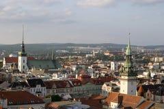 European city Brno. Brno, second biggest city in Czech republic, Europe Royalty Free Stock Photo
