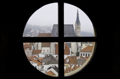 European city of Cesky Krumlov, Czech Republic Stock Image