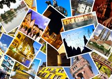 European city in collage Stock Photo