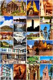 European city in collage Royalty Free Stock Photo