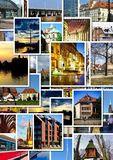 European city collage Royalty Free Stock Images